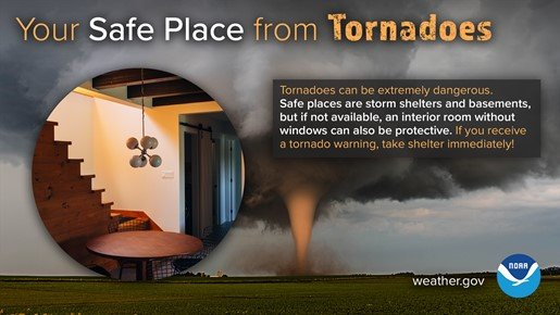 safe place from tornadoes