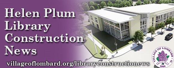 helen plum library construction update