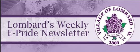 EPride Weekly Newsletter from the Village of Lombard