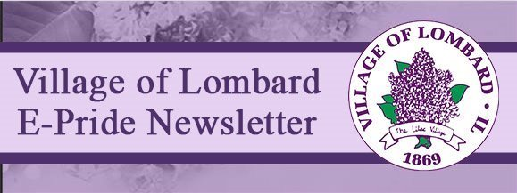 Village of Lombard E-News banner