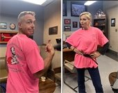 Chicago Fire Cast Wears Lombard Pink T Shirts