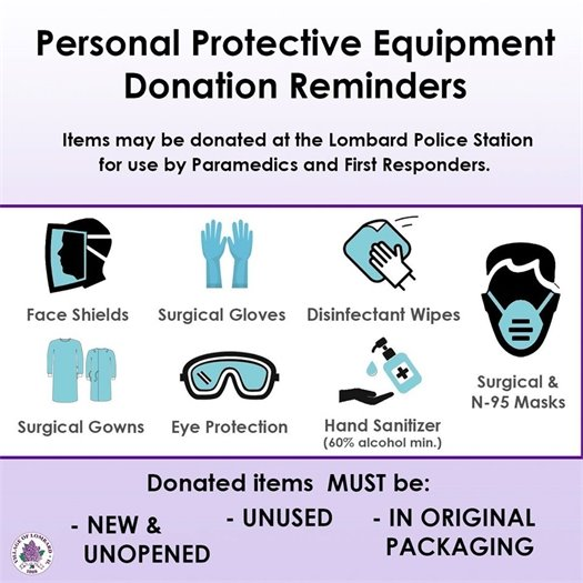 PPE Donations Accepted