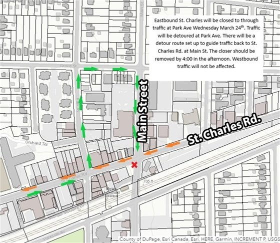 st charles lane closures