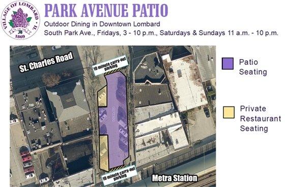 Park avenue patio map