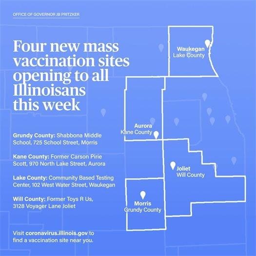 four new sites