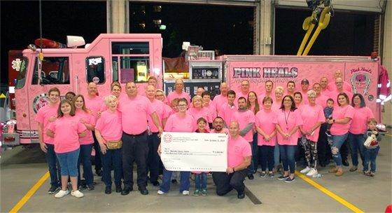 Fire Department Pink T Shirt Photo 2019