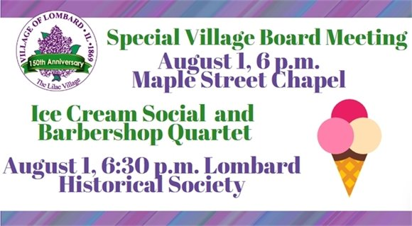 Special Village Board Meeting and Ice Cream Social