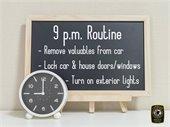 9 p.m. routine