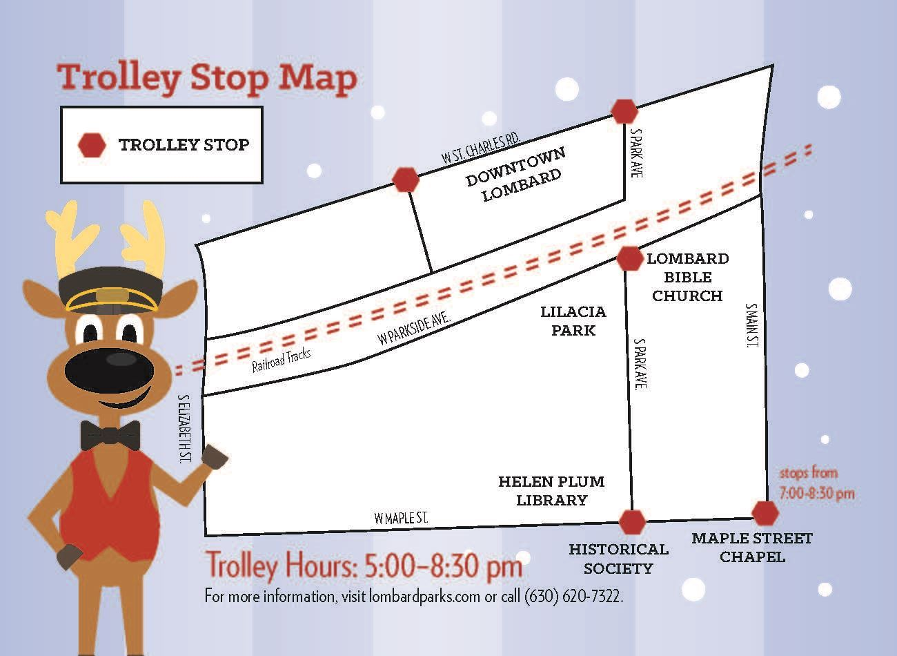 JingleBell Jubilee Trolley Stop Map