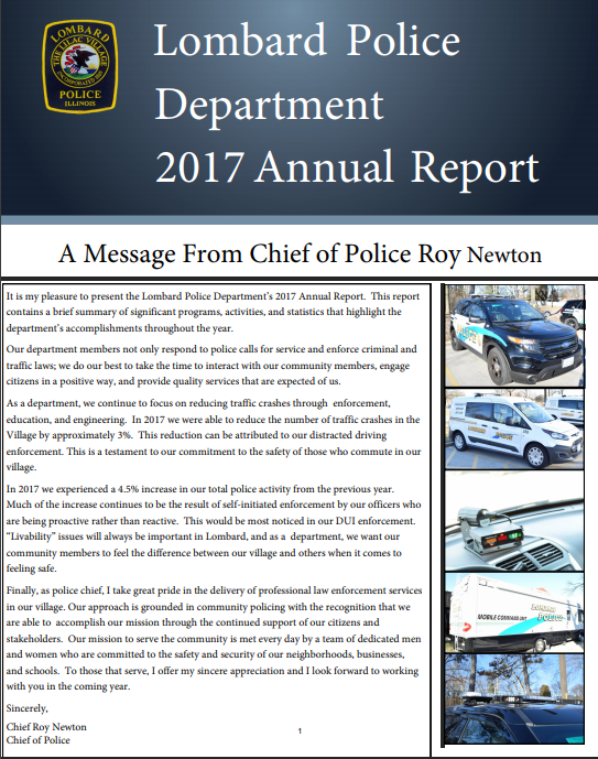 2017 Lombard Police Department Annual Report (JPG)