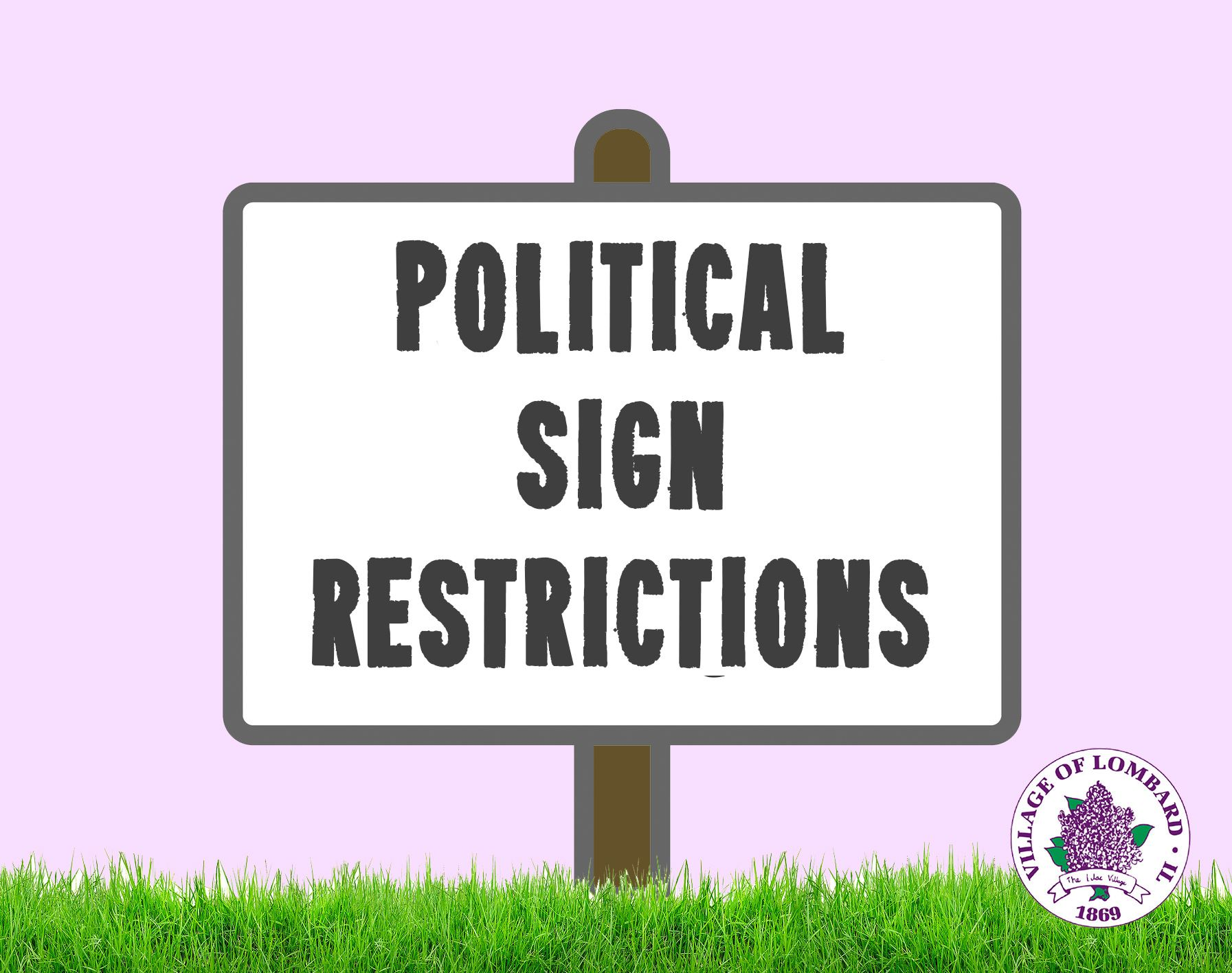 Political sign restrictions news item
